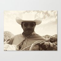 cowboy Canvas Prints featuring Cowboy by DistinctyDesign