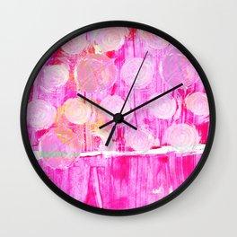 Luminosity of cerise Wall Clock