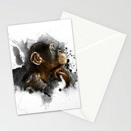 thinking monkey Stationery Cards
