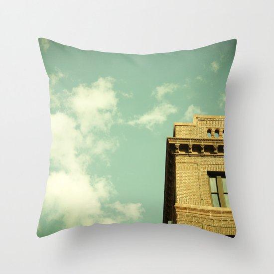 Green Skies Throw Pillow
