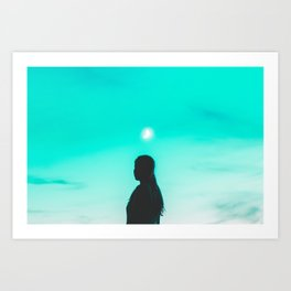 m o o n Art Print