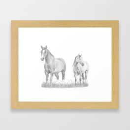 Lilly and Filly Framed Art Print