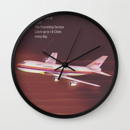 1977 Airliner poster Wall Clock