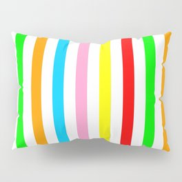 multicolor columns-mutlicolor,abstraction,abstract,fun,line,geometric,geometrical,columns, Pillow Sham
