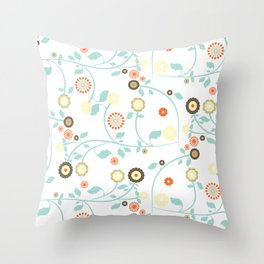 Tapestry pattern flower Throw Pillow