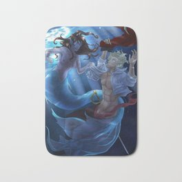 The Mermaid and The Captain Bath Mat