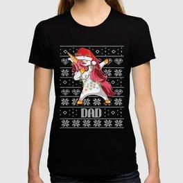 Cute Dabbing Unicorn Nana Christmas Funny Gift T-shirt