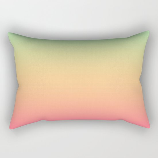 Ombre gradient digital illustration pink, blue, orange colors Rectangular Pillow