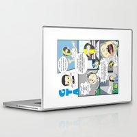 gta Laptop & iPad Skins featuring GTA - Comic strip by Azlee Mahat