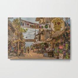 Street Of Montanita, Ecuador Metal Print