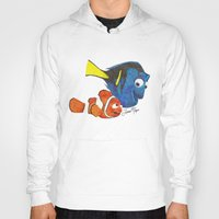 finding nemo Hoodies featuring Finding Nemo by Larissa