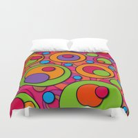polka dots Duvet Covers featuring Polka Dots by Shelly Bremmer