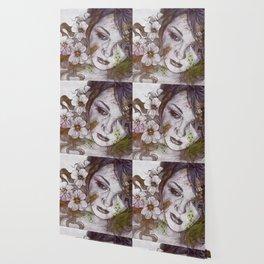 Cleopatra's Sling: Sunset (sweet eyes, flower girl portrait) Wallpaper