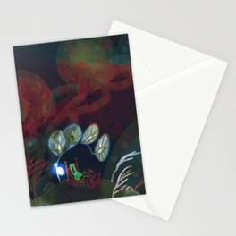 """underwater bedroom, illustration from my book """"Bunny Who Felt Different"""" Stationery Cards"""