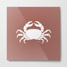 Crab Coral Background Metal Print