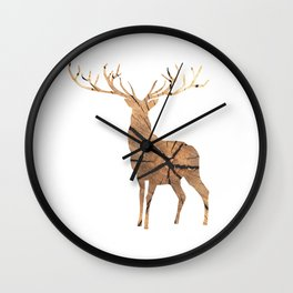 Timber Stag Wall Clock