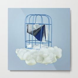 Cloud under prisoner bird Metal Print