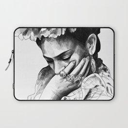 Frida Kahlo - pencil portrait Laptop Sleeve