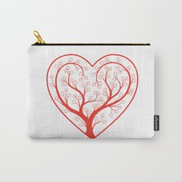 Valentine Heart Tree Carry-All Pouch