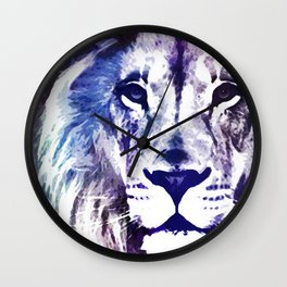Purple Lion Wall Clock