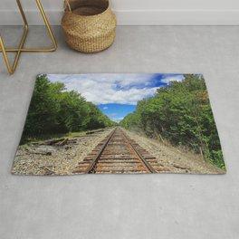 Beautiful Day Train Tracks Rug