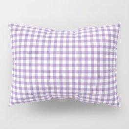 Geometric modern violet white checker stripes pattern Pillow Sham
