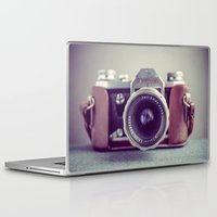 vintage camera Laptop & iPad Skins featuring Vintage Camera by Juste Pixx Photography