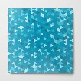 Tricube Blue Metal Print