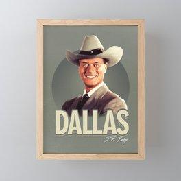 Dallas - J.R. Ewing Framed Mini Art Print