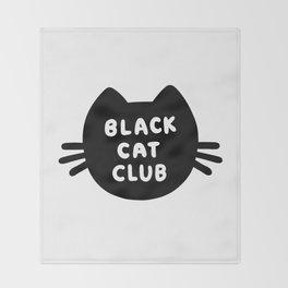 Black Cat Club Throw Blanket