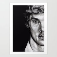 cumberbatch Art Prints featuring Benedict Cumberbatch  by Hannah D