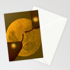 les mots d'amour sous la lune   (The words of love under the moon) Stationery Cards