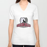 lacrosse V-neck T-shirts featuring Teen wolf - Beacon hills lacrosse team by Little wadoo