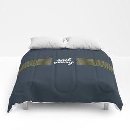 Sail Away Nautical Print Comforters