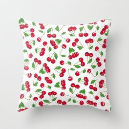 Very cerise - White Throw Pillow