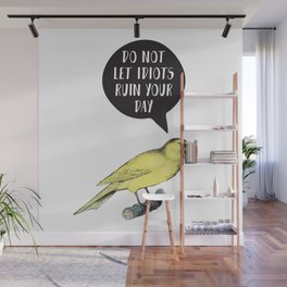 Yellow Bird Canary Funny Motivational Quote Wall Mural