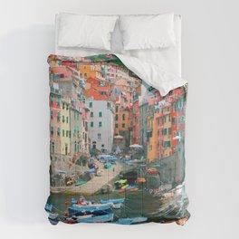 Italy. Cinque Terre marina Comforters