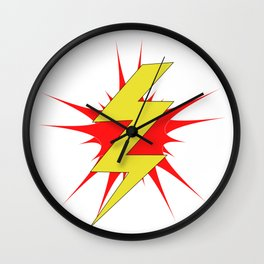 Bolt of Lightning Wall Clock