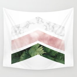 Tropical and Marble - Chevron Wall Tapestry