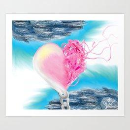 Heart Unwound Art Print