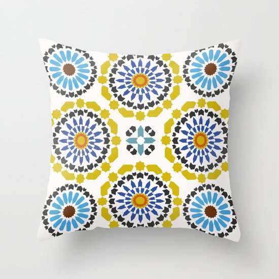 Moroccan Pattern Throw Pillow