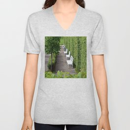 White Benches Unisex V-Neck