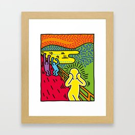 Screaming Framed Art Print