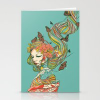 geisha Stationery Cards featuring Geisha by Huebucket