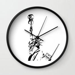 Violin Statue Wall Clock