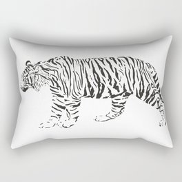 Tiger - black and white vector Rectangular Pillow