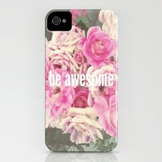 be awesome iPhone (4, 4s) Slim Case