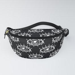Eye of wisdom pattern - Black & White - Mix & Match with Simplicity of Life Fanny Pack