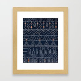 Blue Farmhouse Antique Traditional Moroccan Style Artwork Framed Art Print