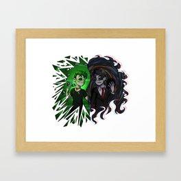 Antisepticeye VS Darkiplier Framed Art Print